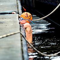 SERIE ROOKIE <br /> Nededrland, Breda, 09-08-2015<br /> Breda, Open Water Zwemmen, Singeltocht, Minioren 1, 250 meter vrije slag jongens<br /> Foto: Klaas Jan van der Weij