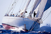 Windrose sailing in the Antigua Superyacht Challenge, race two.