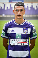 Anderlecht's Matias Suarez pictured during the 2015-2016 season photo shoot of Belgian first league soccer team RSC Anderlecht, Tuesday 14 July 2015 in Brussels.