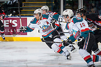 KELOWNA, CANADA - FEBRUARY 9: Tyrell Goulbourne #12 of Kelowna Rockets skate against the Prince George Cougars on February 9, 2015 at Prospera Place in Kelowna, British Columbia, Canada.  (Photo by Marissa Baecker/Shoot the Breeze)  *** Local Caption *** Tyrell Goulbourne;