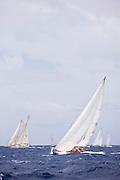 Galatea sailing in the 2010 Antigua Classic Yacht Regatta, Cannon Race, day 3.