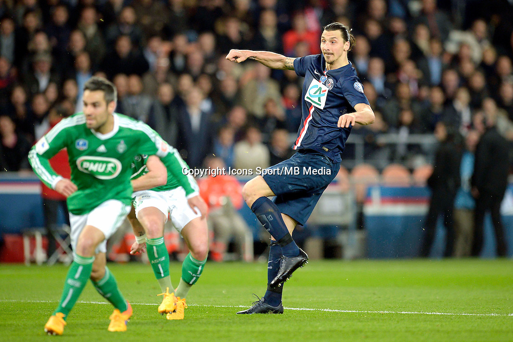 Goal Zlatan Ibrahimovic - 08.04.2015 - Paris Saint Germain / Saint Etienne - 1/2Finale Coupe de France<br /> Photo : Andre Ferreira / Icon Sport