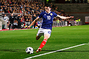 Man Of The Match Lewis Morgan Scotland U21s (Celtic FC)  during the U21 UEFA EUROPEAN CHAMPIONSHIPS match Scotland vs England at Tynecastle Stadium, Edinburgh, Scotland, Tuesday 16 October 2018.