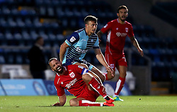 Aaron Wilbraham of Bristol City is fouled by Dayle Southwell of Wycombe Wanderers - Mandatory by-line: Robbie Stephenson/JMP - 09/08/2016 - FOOTBALL - Adams Park - High Wycombe, England - Wycombe Wanderers v Bristol City - EFL League Cup