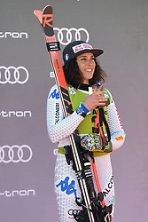 March 14, 2019 - ANDORRA - Federica Brignone (ITA) in Podium Ladies Super Giant of Audi FIS Ski World Cup Finals 18/19 on March 14, 2019 in Grandvalira Soldeu/El Tarter, Andorra. (Credit Image: © AFP7 via ZUMA Wire)