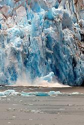Ice calving, Seward Glacier, Tracy Arm Fjord, Tracy Arm-Fords Terror Wilderness, Alaska Inside Passage, Alaska, United States of America