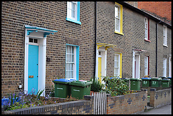 Colourful Terraced house's in Woolwich in South London, May 22, 2013,<br /> Picture by Andrew Parsons / i-Images