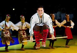 Dancers perform during closing ceremony after the final handball match between Serbia and Denmark at 10th EHF European Handball Championship Serbia 2012, on January 29, 2012 in Beogradska Arena, Belgrade, Serbia. Denmark defeated Serbia 21-19 and became European Champion 2012. (Photo By Vid Ponikvar / Sportida.com)