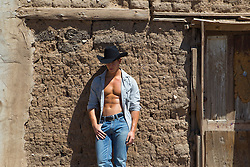sexy masculine cowboy with a great body in New Mexico