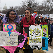 "Aleshia Faust, left, and Michelle Coleman attended the Women's March on Washington where an anticipated 200,000 people turned into an estimated 500,000 to 1 million people, on Saturday, January 21, 2017.  When asked about their hopes for the next 4 years, Faust said, ""...I hope I'm wrong about Donald Trump...I hope he'll unite us and not divide us...""  Coleman added, ""...I hope he'll hear our voices and how many of us exist...and I hope we'll survive...""  John Boal Photography"