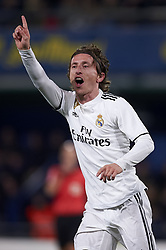 January 3, 2019 - Villarreal, Castellon, Spain - Luka Modric of Real Madrid celebrates after scoring his sides first goal during the week 17 of La Liga match between Villarreal CF and Real Madrid at Ceramica Stadium in Villarreal, Spain on January 3 2019. (Credit Image: © Jose Breton/NurPhoto via ZUMA Press)