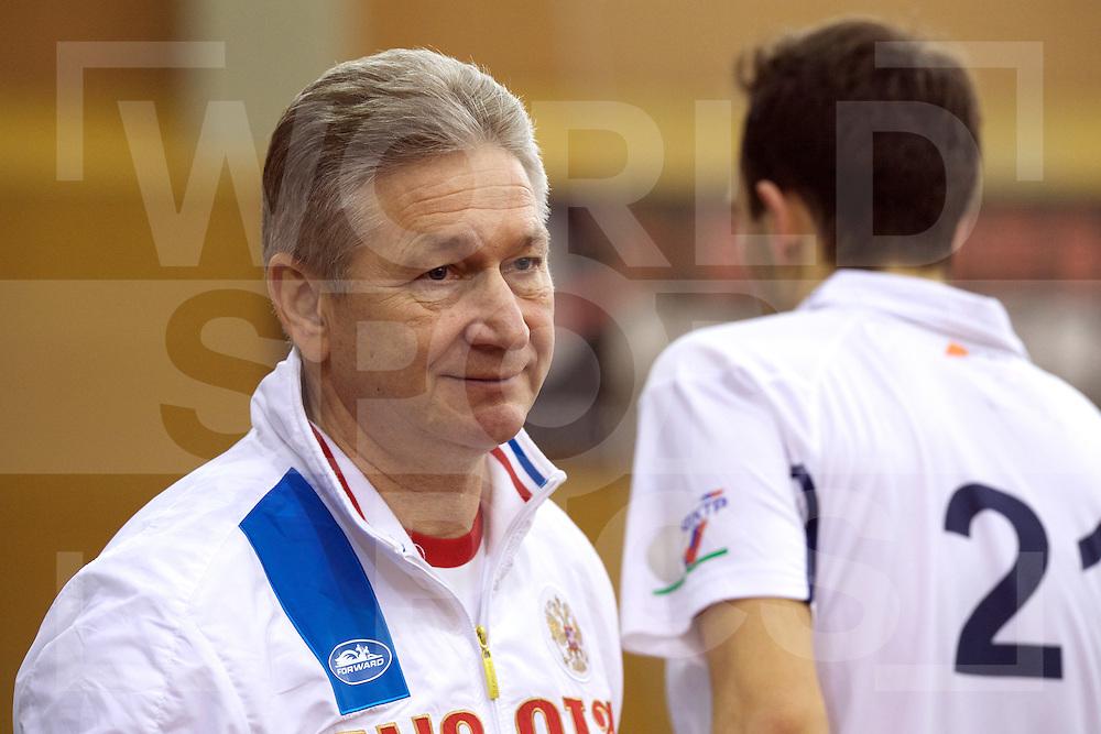 2017 EuroHockey Indoor Junior Championship (M)<br /> 12 Portugal - Russia<br /> Foto: VOLKOV Head Coach.<br /> FFU PRESS AGENCY COPYRIGHT FRANK UIJLENBROEK