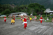 welcome, Hanavave, Island of Fatu Hiva, Marquesas Islands, French Polynesia, (Editorial use only)<br />