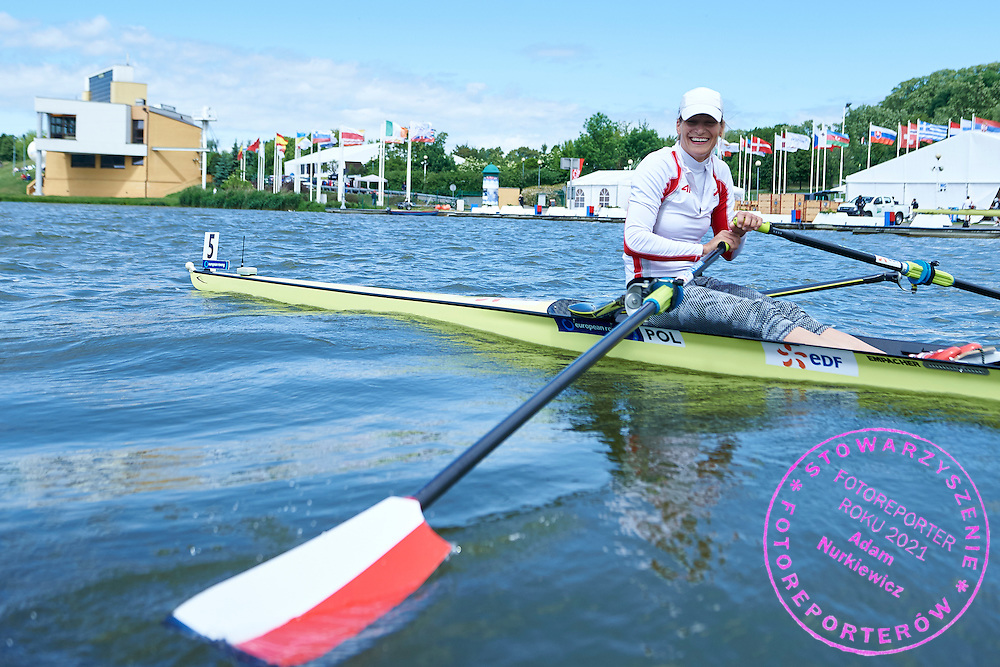 Julia Michalska of Poland before Women&rsquo;s Single Sculls (W1x) Semifinal during second day the 2015 European Rowing Championships on Malta Lake on May 30, 2015 in Poznan, Poland<br /> Poland, Poznan, May 30, 2015<br /> <br /> Picture also available in RAW (NEF) or TIFF format on special request.<br /> <br /> For editorial use only. Any commercial or promotional use requires permission.<br /> <br /> Mandatory credit:<br /> Photo by &copy; Adam Nurkiewicz / Mediasport