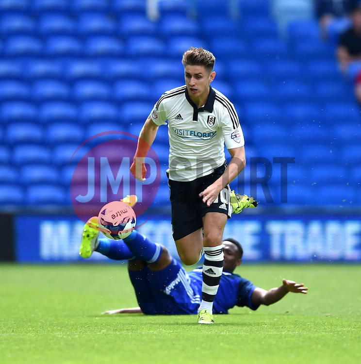 Tom Cairney of Fulham in action during the Sky Bet Championship match between Cardiff City and Fulham at Cardiff City Stadium on 8 August 2015 in Cardiff, Wales - Mandatory by-line: Paul Knight/JMP - Mobile: 07966 386802 - 08/08/2015 -  FOOTBALL - Cardiff City Stadium - Cardiff, Wales -  Cardiff City v Fulham - Sky Bet Championship