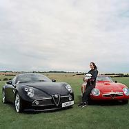 Holly Mason, with Alfa Romeo, Aston Martin and Bugatti