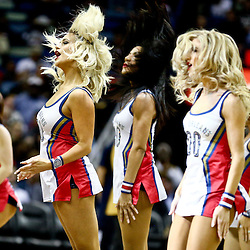 Mar 7, 2016; New Orleans, LA, USA; New Orleans Pelicans dance team performs during the second quarter of a game against the Sacramento Kings at the Smoothie King Center. Mandatory Credit: Derick E. Hingle-USA TODAY Sports