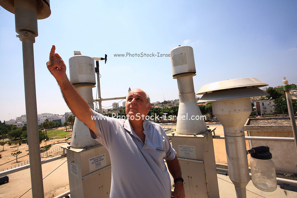 Israel, Hadera, Air quality monitoring. Hadera area is considered to be polluted due to the coal power plant on the seashore. Continues monitoring of the air is one method of finding ways to reduce airborne pollution