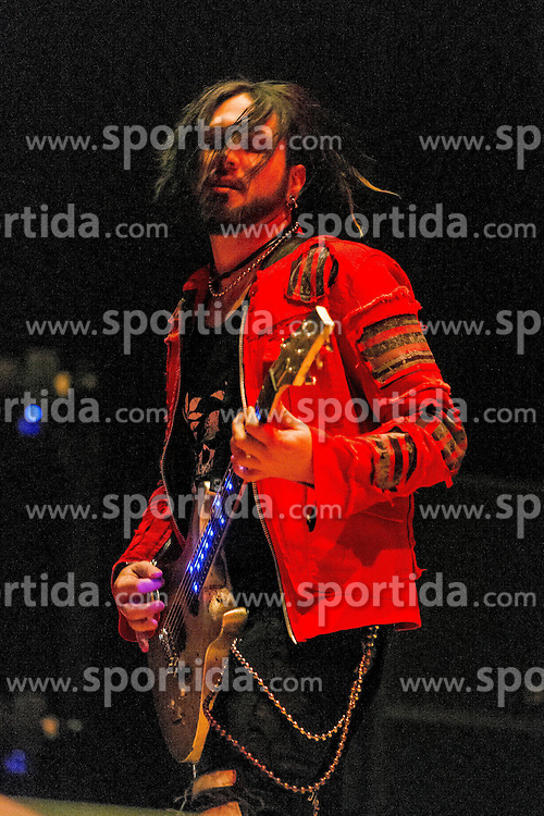 17.04.2015, Ruhrcongresscenter, Bochum, GER, Unheilig, Gipfelst&uuml;rmer Tournee 2015, im Bild Tony Berger (Gitarrist) der Vorband A life Devided mit Gitarre // performs live on stage during the 2015 tour &quot;Gipfelsturmer&quot; at Ruhrcongresscenter in Bochum, Germany on 2015/04/17. EXPA Pictures &copy; 2015, PhotoCredit: EXPA/ Eibner-Pressefoto/ Hommes<br /> <br /> *****ATTENTION - OUT of GER*****