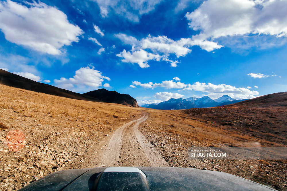 Driving to Tashi Gang village of Spiti, Himachal Pradesh, India