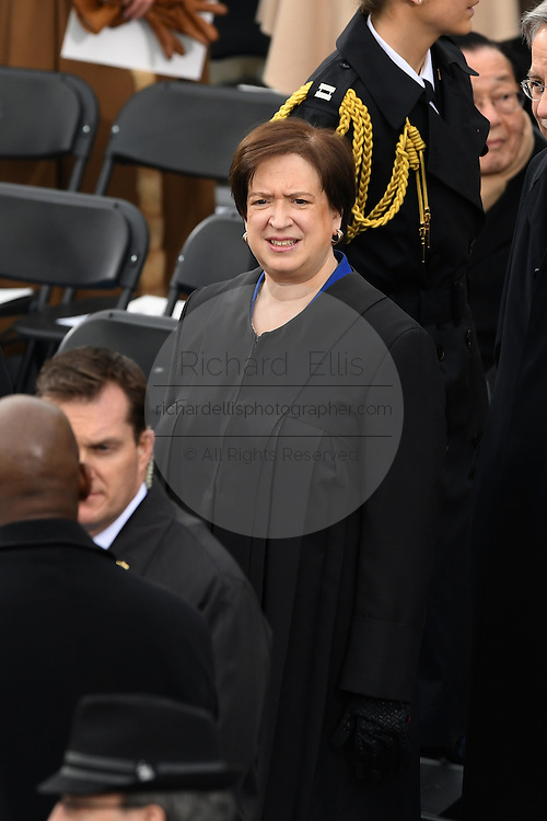 Supreme Court Justice Elena Kagan arrives for the 68th President Inaugural Ceremony on Capitol Hill January 20, 2017 in Washington, DC.