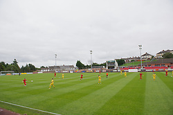 LLANELLI, WALES - Saturday, September 15, 2012: Llanelli take on Newtown during the Welsh Premier League match at Stebonheath Park. (Pic by David Rawcliffe/Propaganda)