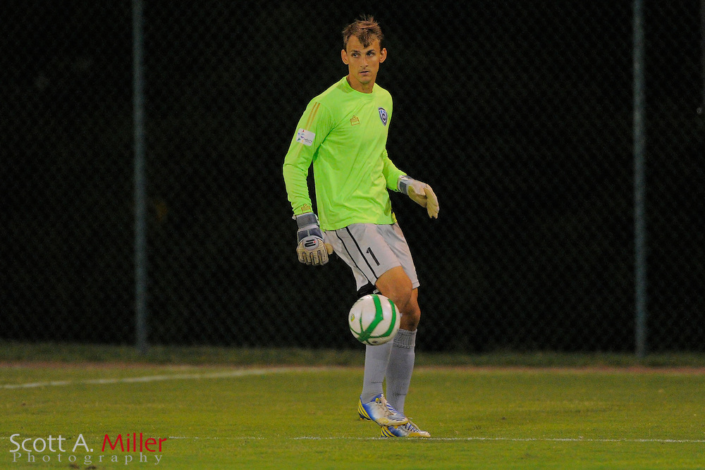 VSI Tampa Bay FC goalkeeper Alex Horwath (1) during a USL-Pro soccer game against the Dayton Dutch Lions at the Plant City Stadium in Plant City, Florida April 26, 2013. Dayton won 1-0....©2013 Scott A. Miller