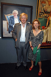 BORIS JOHNSON MP and artist FELICITY GILL at the opening of the Royal Society Of Portrait Painters annual exhibition 2007 held at The Mall Galleries, The Mall, London on 25th April 2007.<br /><br />NON EXCLUSIVE - WORLD RIGHTS
