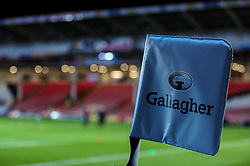 A general view of the Gallagher Premiership branding prior to kick off - Mandatory by-line: Ryan Hiscott/JMP - 15/02/2019 - RUGBY - Kingsholm - Gloucester, England - Gloucester Rugby v Exeter Chiefs - Gallagher Premiership Rugby