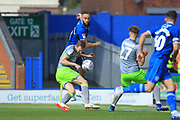 Aaron Wilbraham is challenged during the EFL Sky Bet League 1 match between Rochdale and Walsall at Spotland, Rochdale, England on 25 August 2018.