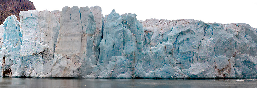 14th-July-glacier in Krossfjord, western Spitsbergen, Svalbard in early August 2012.