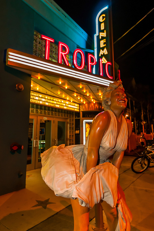 """Forever Marilyn"" sculpture (by Seward Johnson), Tropic Cinema, Key West, Florida Keys, Florida USA"