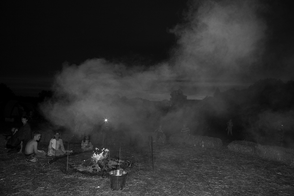 Smoke rises from the campfire at Ben's Primary school in Berkhamsted England Saturday, July 4, 2015 (Elizabeth Dalziel) #thesecretlifeofmothers #bringinguptheboys #dailylife