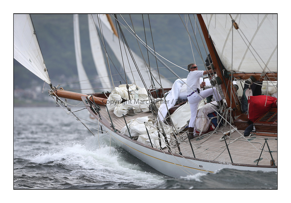 Day one of the Fife Regatta, Round Cumbraes Race.<br /> Latifa, 8, Mario Pirri, ITA, Bermudan Yawl, Wm Fife 3rd, 1936<br /> <br /> * The William Fife designed Yachts return to the birthplace of these historic yachts, the Scotland&rsquo;s pre-eminent yacht designer and builder for the 4th Fife Regatta on the Clyde 28th June&ndash;5th July 2013<br /> <br /> More information is available on the website: www.fiferegatta.com