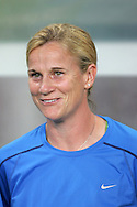 15 August 2008: United States assistant coach Jillian Ellis.  The women's Olympic team of the United States defeated the women's Olympic soccer team of Canada 2-1 after extra time at Shanghai Stadium in Shanghai, China in a Quarterfinal match in the Women's Olympic Football competition.
