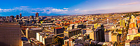 Panoramic view, Central Business DIstrict with Nelson Mandela Bridge, Johannesburg, South Africa.