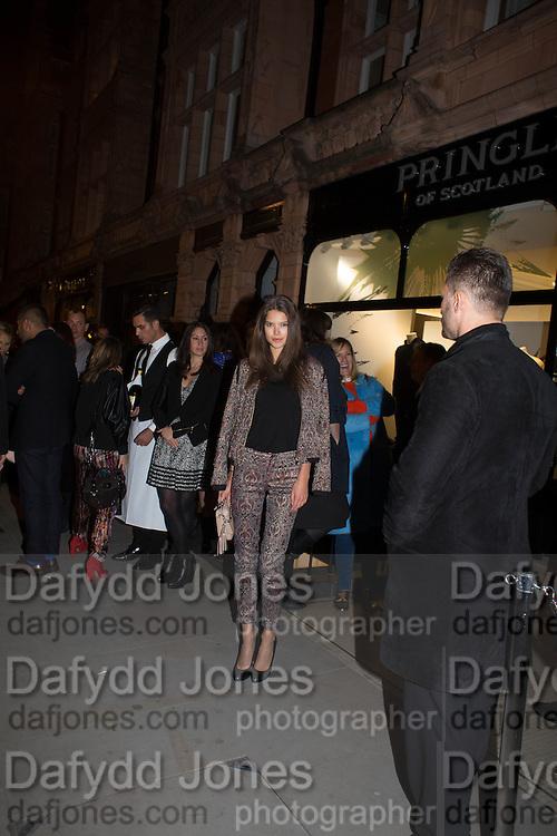 SARAH ANN MACKLIN, Pringle launch party, Mount St. London. 16 September 2013