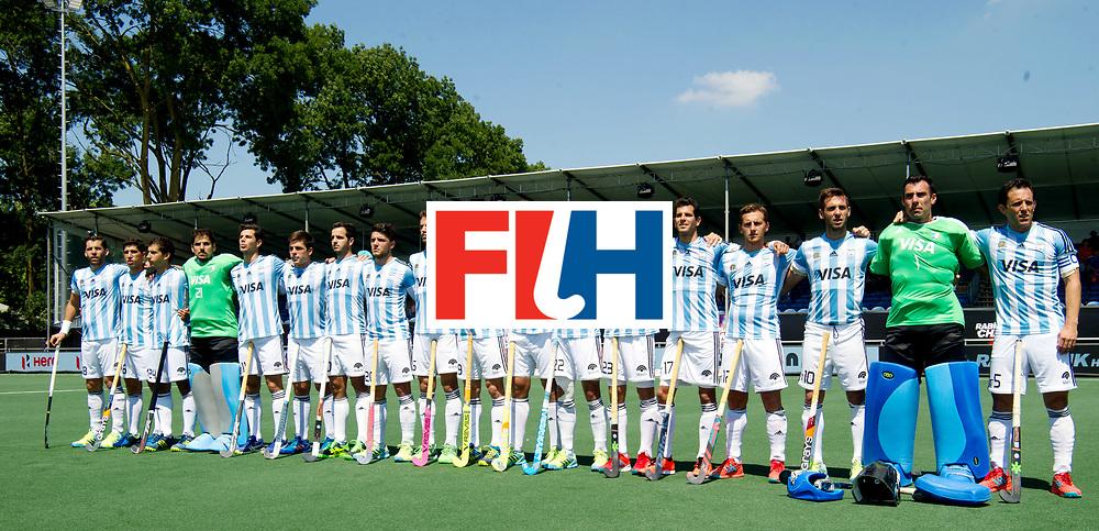 BREDA - Rabobank Hockey Champions Trophy<br /> Argentina -  Australia<br /> Photo: Argentina line up.<br /> COPYRIGHT WORLDSPORTPICS FRANK UIJLENBROEK