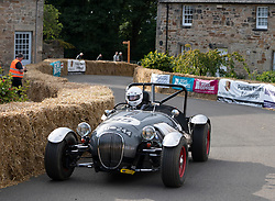 Boness Revival hillclimb motorsport event in Boness, Scotland, UK. The 2019 Bo'ness Revival Classic and Hillclimb, Scotland's first purpose-built motorsport venue, it marked 60 years since double Formula 1 World Champion Jim Clark competed here.  It took place Saturday 31 August and Sunday 1 September 2019. 95 Geoff Mansfield Kougar Special