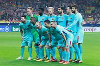 FC Barcelona's team photo with Marc-Andre Ter Stegen, Samuel Umtiti, Ivan Rakitic, Andre Gomes, Sergio Busquets, Gerard Pique, Leo Messi, Nelson Semedo, Andres Iniesta, Luis Suarez and Jordi Alba during La Liga match. October 14,2017. (ALTERPHOTOS/Acero)