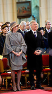 Brussels 12-02-2015<br /> <br /> <br /> Church service for the past away members of the Belgium Royal Family.<br /> <br /> <br /> Photo: Bernard Ruebsamen/Royalportraits Europe