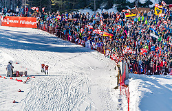 28.02.2019, Seefeld, AUT, FIS Weltmeisterschaften Ski Nordisch, Seefeld 2019, Nordische Kombination, Langlauf, im Bild v.l. Franz-Josef Rehrl (AUT), Jarl Magnus Riiber (NOR) // f.l. Franz-Josef Rehrl of Austria and Jarl Magnus Riiber of Norway during the Cross Country Competition of Nordic Combined for the FIS Nordic Ski World Championships 2019. Seefeld, Austria on 2019/02/28. EXPA Pictures © 2019, PhotoCredit: EXPA/ Stefan Adelsberger