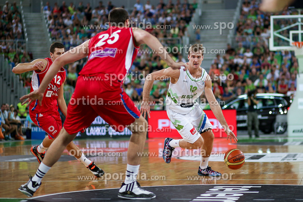 Zoran Dragic of Slovenia at friendly basketball match between National teams of Slovenia and Serbia, on August 27 in SRC Stozice, Ljubljana, Slovenia. Photo by Matic Klansek Velej / Sportida August 27, 2015
