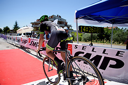 Dani King accelerates down the start ramp on Stage 5 of the Giro Rosa - a 12.7 km individual time trial, starting and finishing in Sant'Elpido A Mare on July 4, 2017, in Fermo, Italy. (Photo by Sean Robinson/Velofocus.com)