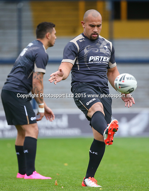 22/10/2015 - Rugby League - New Zealand Kiwis Captain's Run - Headingley Stadium, Leeds, England - New Zealand's Sam Moa.<br /> Photo credit: Alex Whitehead / www.photosport.nz