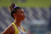 Morgan Mitchell (Australia), 800 Metres Women - Round 1, Heat 2, during the 2019 IAAF World Athletics Championships at Khalifa International Stadium, Doha, Qatar on 27 September 2019.
