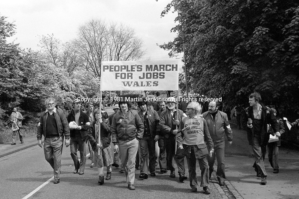People's  March for Jobs Wales, Lavendon to Bedford 23/05/1981