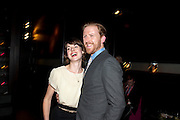 KERRY GOODMAN-HILL; TOM GOODMAN-HILL, party after the Press Night of 'Death And The Maiden'  ( which opened at the Harold Pinter Theatre.) Mint Leaf Restaurant & bar. Haymarket. London. 24 October 2011. <br /> <br />  , -DO NOT ARCHIVE-© Copyright Photograph by Dafydd Jones. 248 Clapham Rd. London SW9 0PZ. Tel 0207 820 0771. www.dafjones.com.