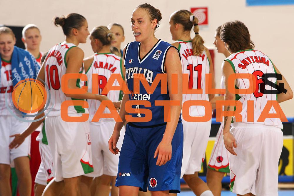 DESCRIZIONE : Ortona Italy Italia Eurobasket Women 2007 Bielorussia Italia Belarus Italy <br /> GIOCATORE : Kathrin Ress <br /> SQUADRA : Nazionale Italia Donne Femminile <br /> EVENTO : Eurobasket Women 2007 Campionati Europei Donne 2007 <br /> GARA : Bielorussia Italia Belarus Italy <br /> DATA : 03/10/2007 <br /> CATEGORIA : Delusione <br /> SPORT : Pallacanestro <br /> AUTORE : Agenzia Ciamillo-Castoria/S.Silvestri <br /> Galleria : Eurobasket Women 2007 <br /> Fotonotizia : Ortona Italy Italia Eurobasket Women 2007 Bielorussia Italia Belarus Italy <br /> Predefinita :