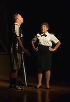 Streetcar Company dress rehearsal of A Few Good Men at Laconia High School.  Karen Bobotas for the Laconia Daily Sun